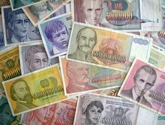 jugoslawische Banknoten, Haufen