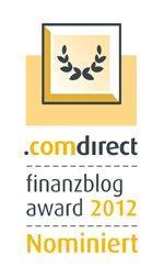 Logo des comdirect Finanzblog Award 2012