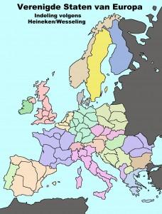 Karte von Eurotopia mit Regionen