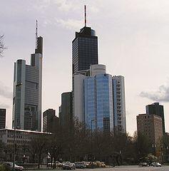 Türme der Banken und Versicherungen in Frankfurt