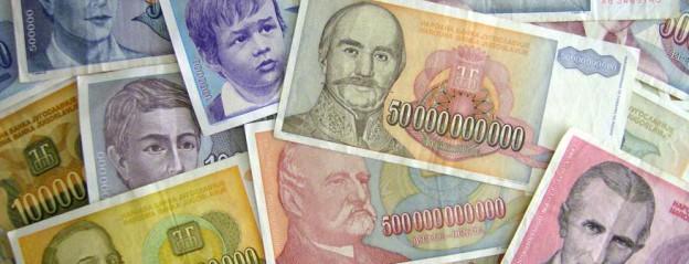 Inflationsgeld aus Jugoslawien 1993/94