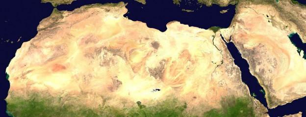 Nordafrika Satellitenfoto