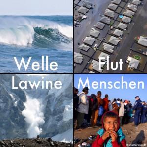 Welle Flut Lawine