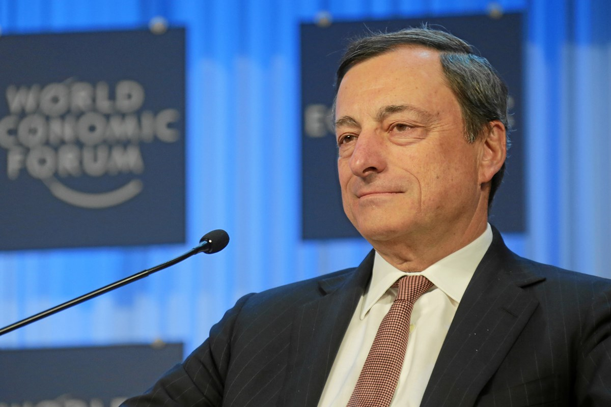DAVOS/SWITZERLAND, 25. JAN 13 - Mario Draghi, President, European Central Bank, Frankfurt is captured during the special address session at the Annual Meeting 2013 of the World Economic Forum in Davos, Switzerland, January 25, 2013.   Copyright by World Economic Forum